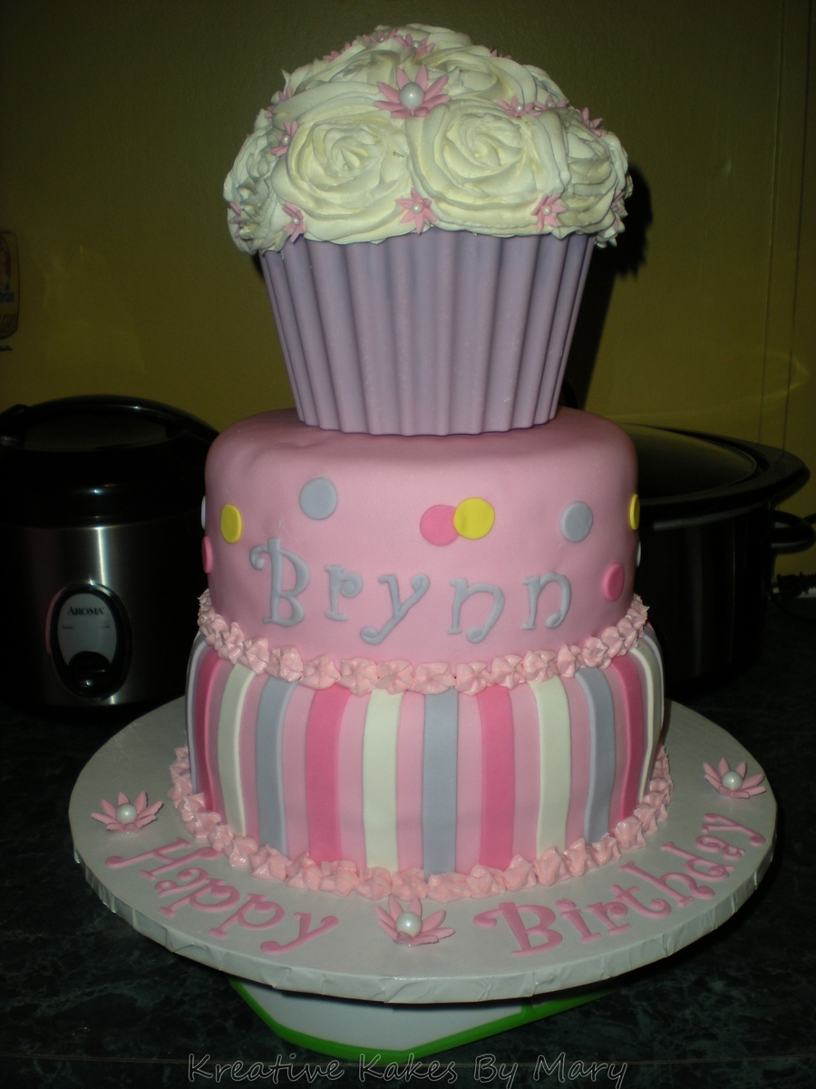 Giant Cupcake Cake on Cake Central