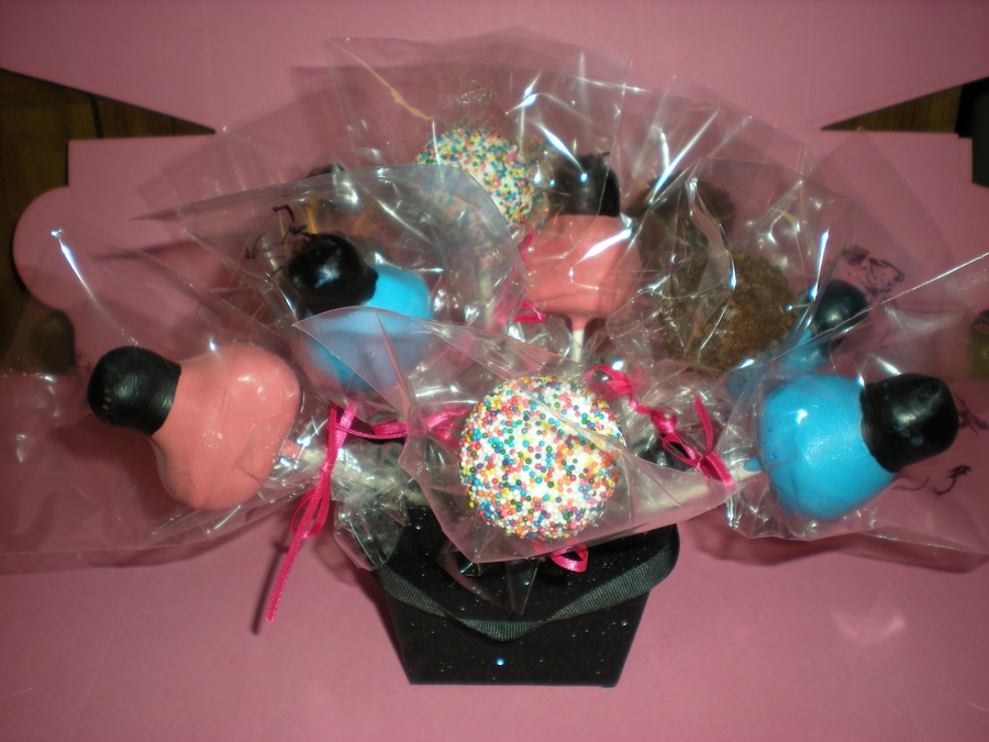 Nail Spa Cake Pop Bouquet on Cake Central