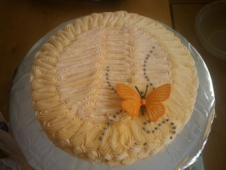 Vanilla Cake With Buttercream on Cake Central