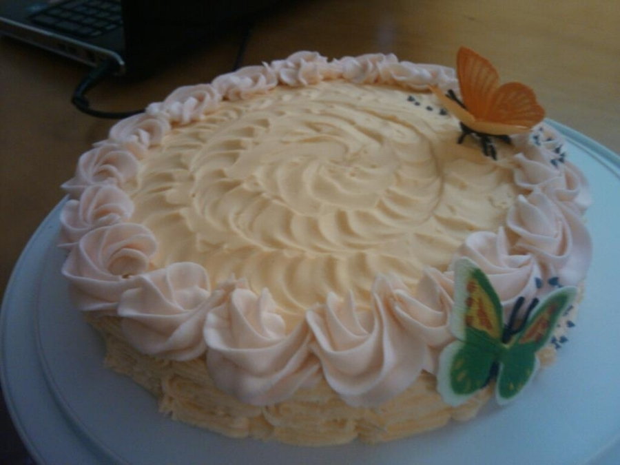 Vanilla Cake  on Cake Central