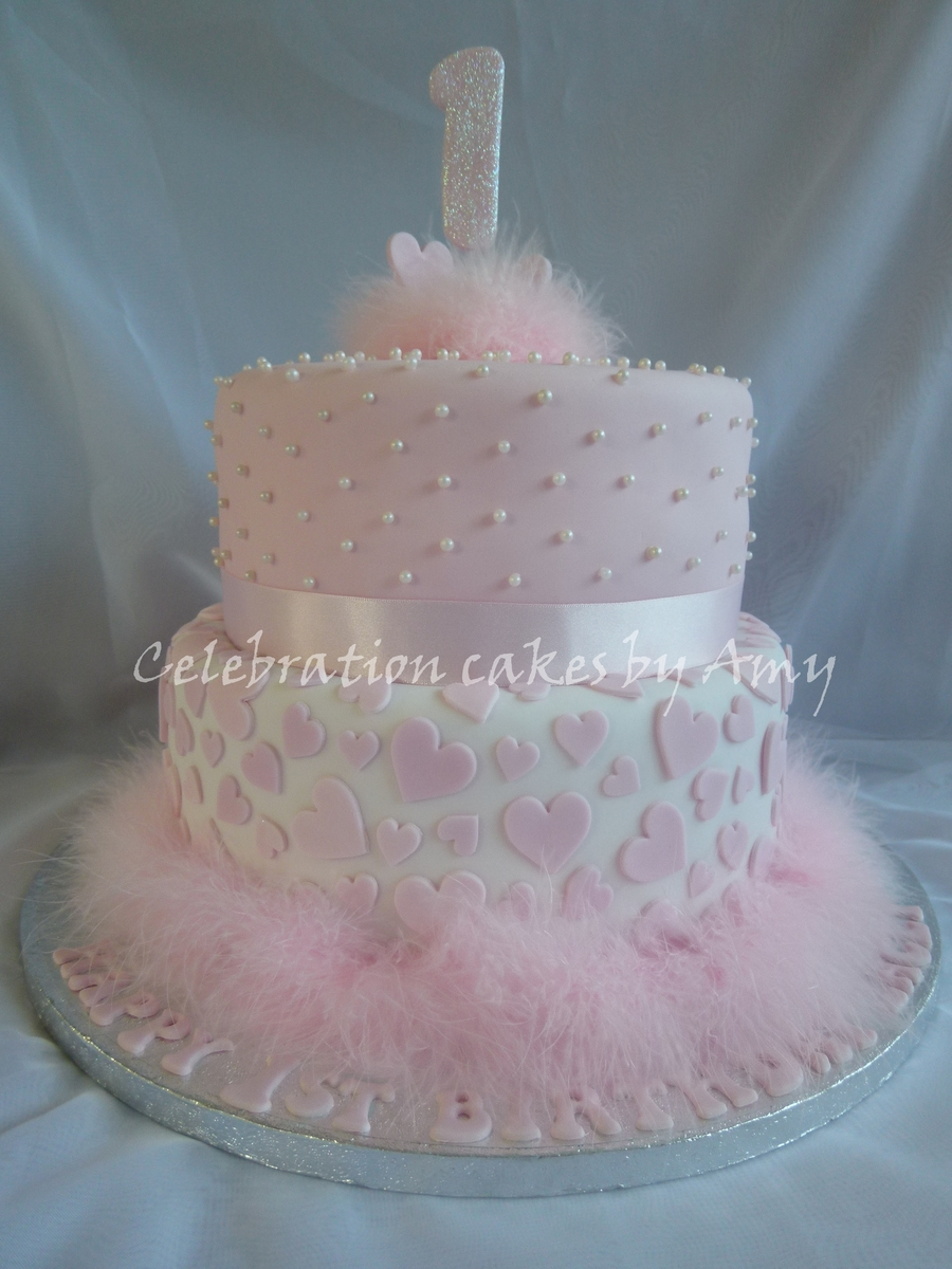 Little Girls 1St Birthday Cake CakeCentralcom