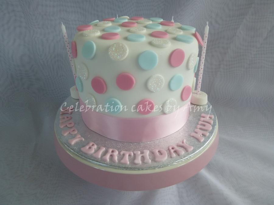 Cake Designs With Polka Dots : Polka Dot Cake - CakeCentral.com