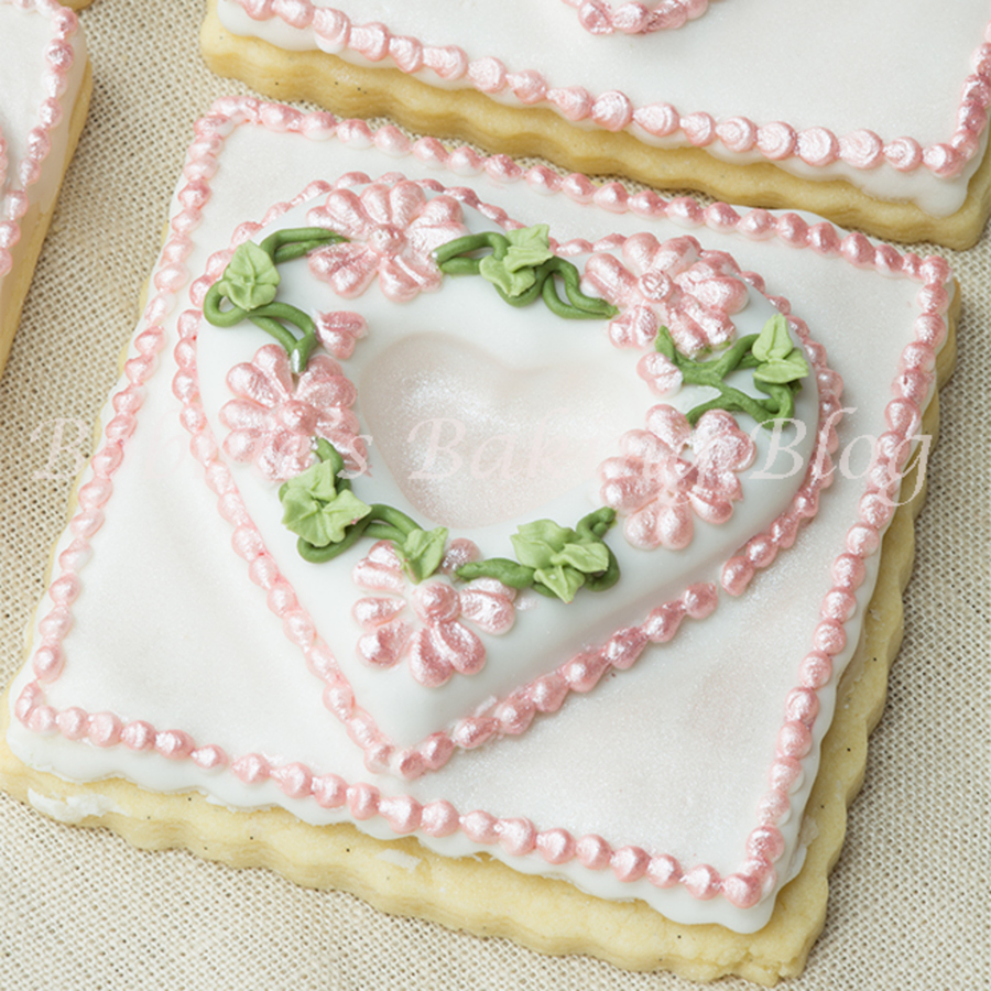 Royal Icing Pressure Scratched Piped Primrose Garden Tufted Heart On A Sugar Cookie on Cake Central