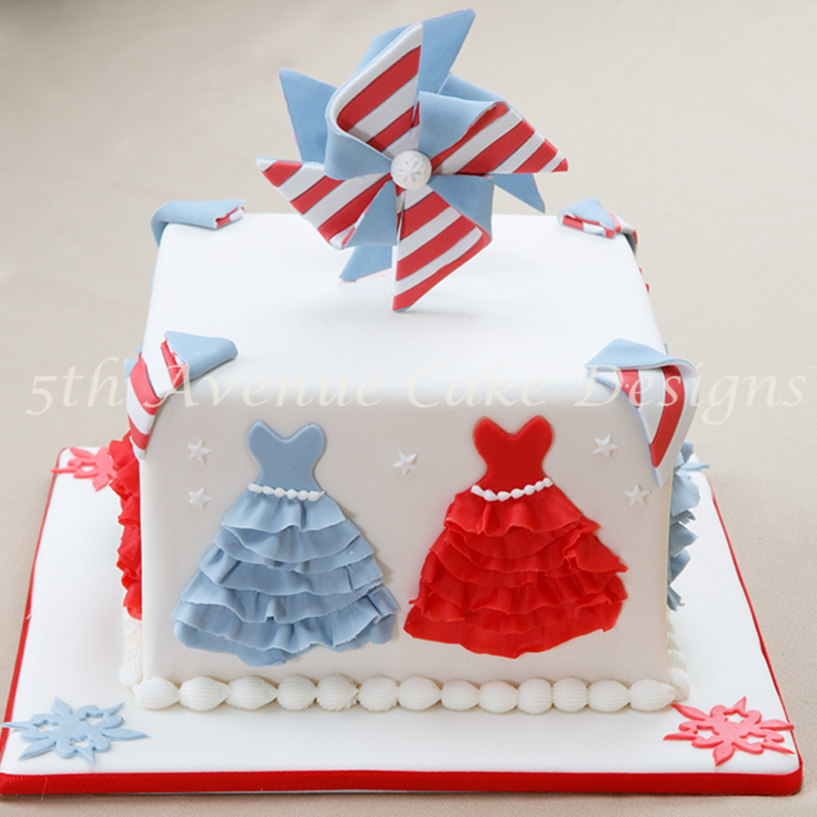 Celebrate The 4Th Of July In Style And Spinning Pinwheels Happy Birthday Usa on Cake Central
