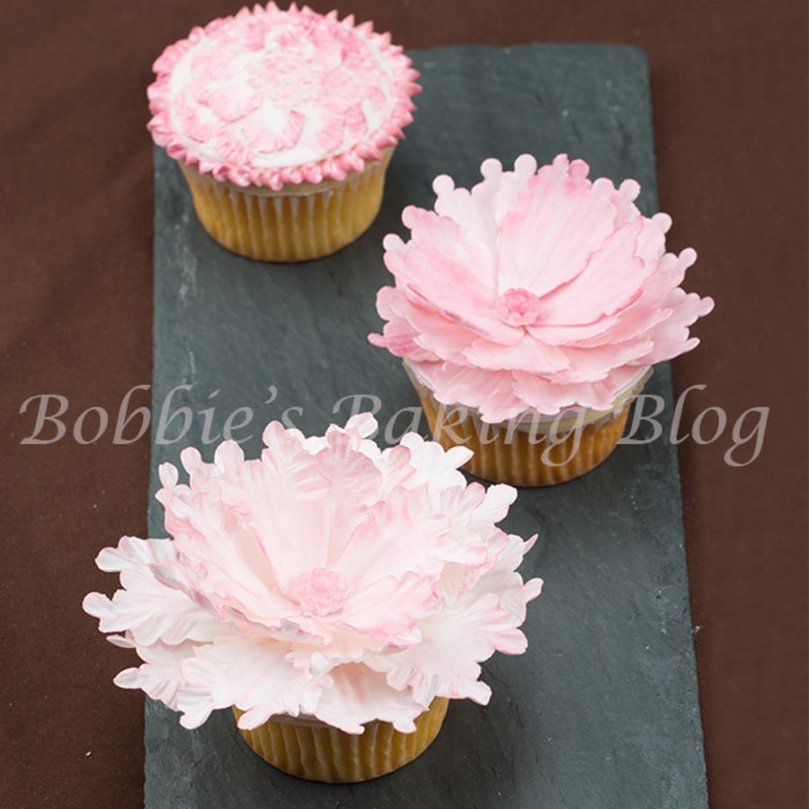 Peony Sugar Art Fun On A Cupcake on Cake Central