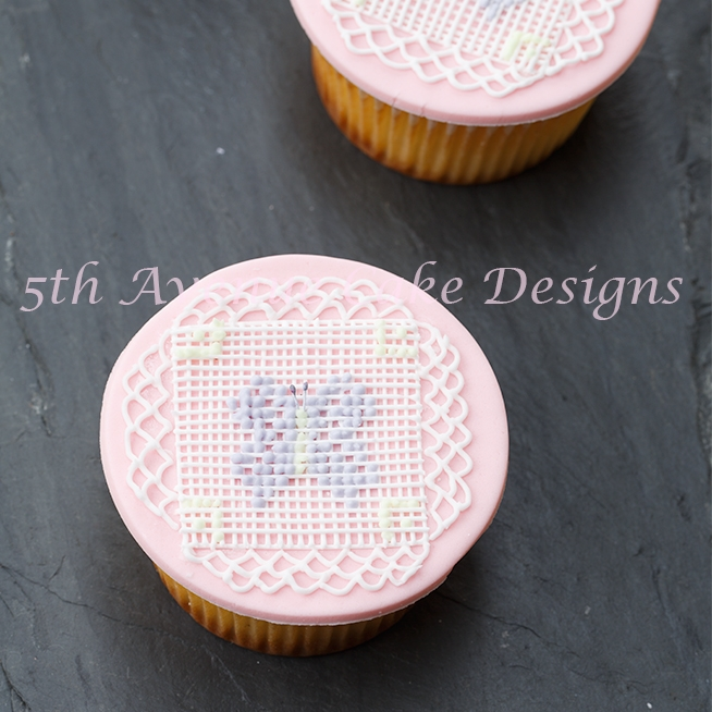 Royal Icing Cross Stitch Butterfly Cupcakes on Cake Central