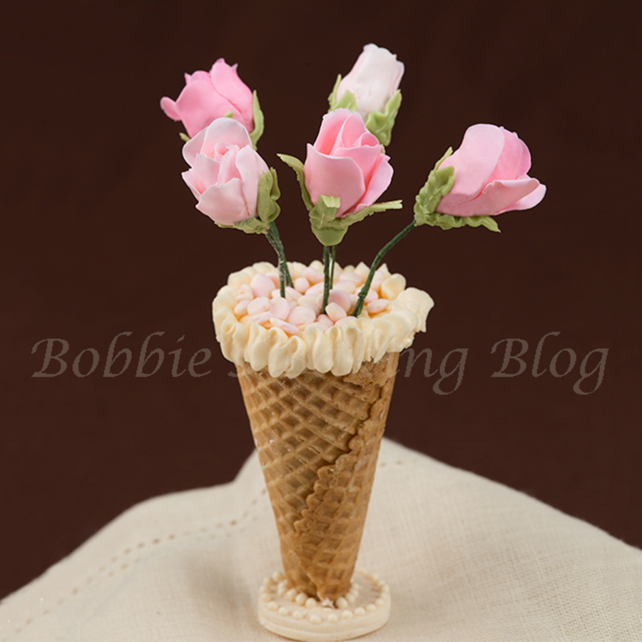 Modeling Chocolate Long Stem Roses In An Edible Vase For A Valentines Day Cake Topper on Cake Central