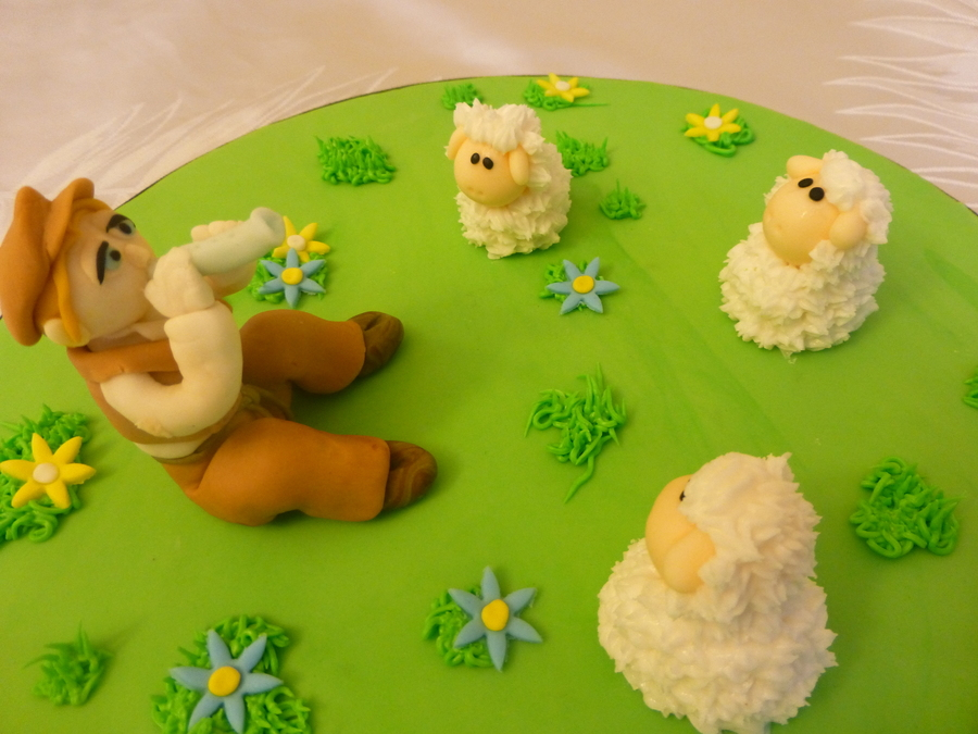 Sheep And Shepherd on Cake Central
