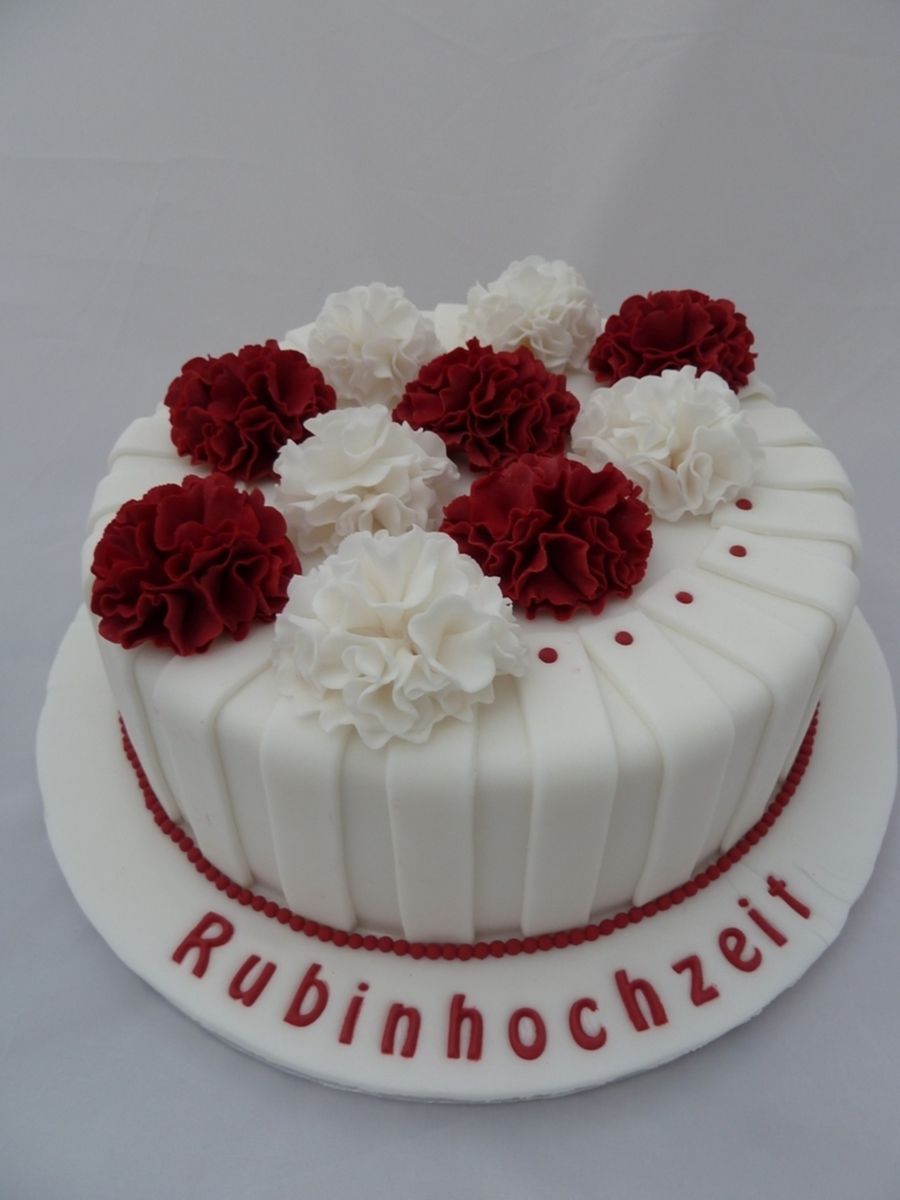 Ruby Wedding on Cake Central
