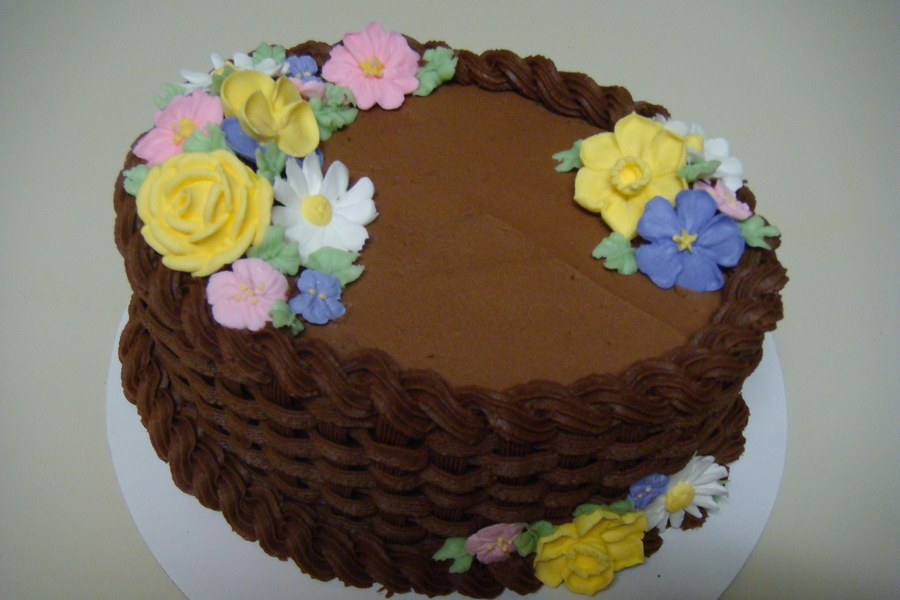 Basketweave on Cake Central