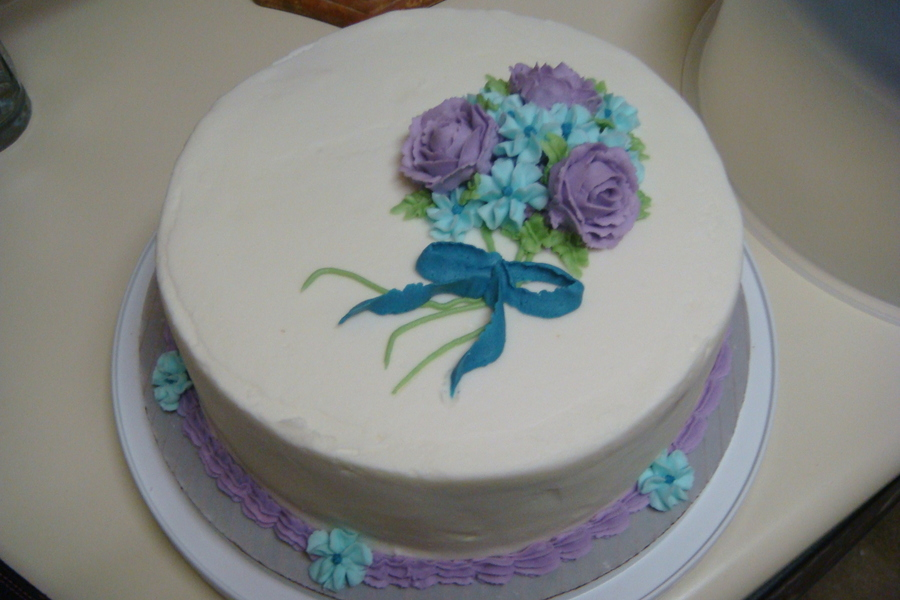Royal Flowers  on Cake Central