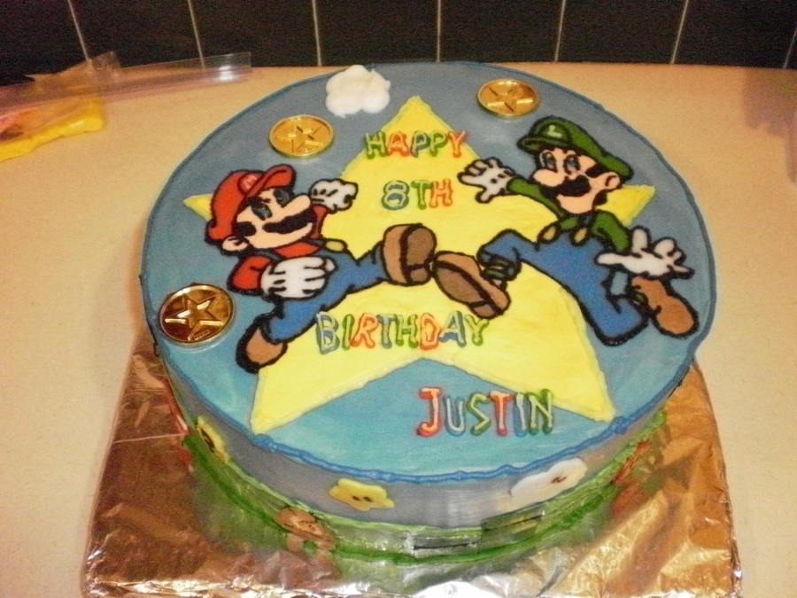 Prime Super Mario Brothers Birthday Cake Cakecentral Com Personalised Birthday Cards Petedlily Jamesorg