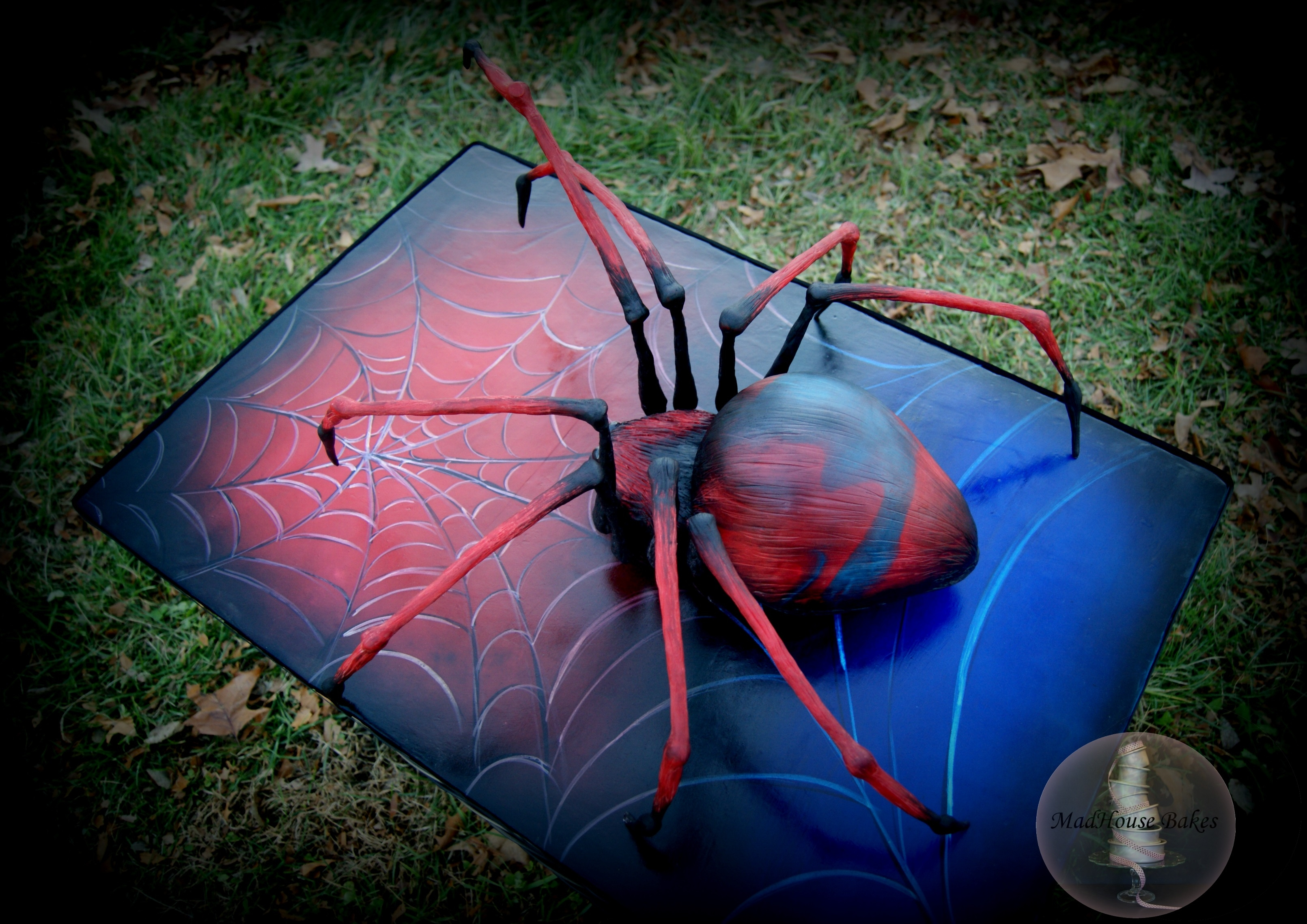 How to make a 3d spider cake