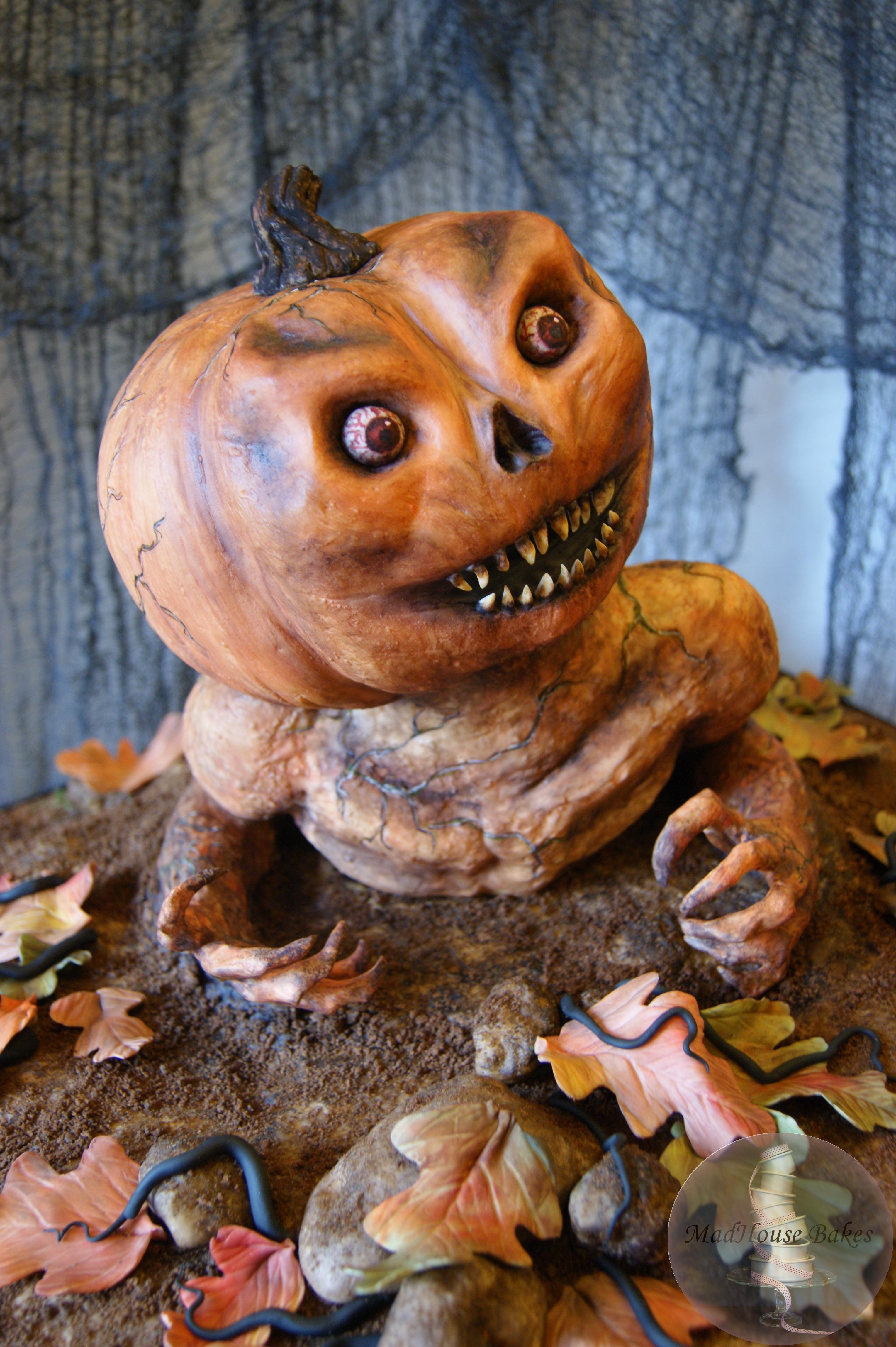 A Pumpkin Monster Birthday Cake CakeCentral