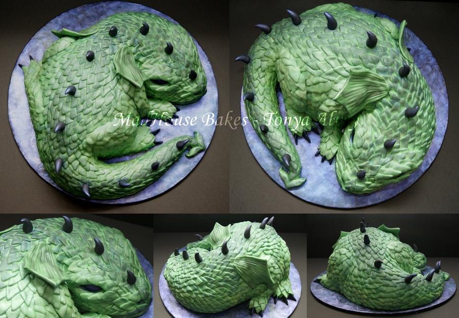 how to make a 3d dragon cake