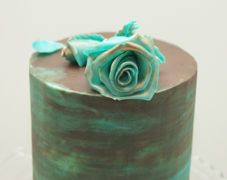 My Distressed Teal Mini Cake Cakecentral Com