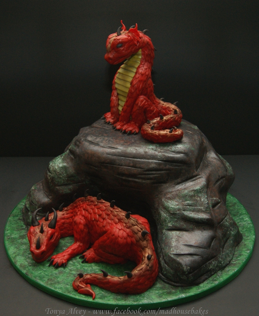 My Dragons And Cave Cake Cakecentral Com