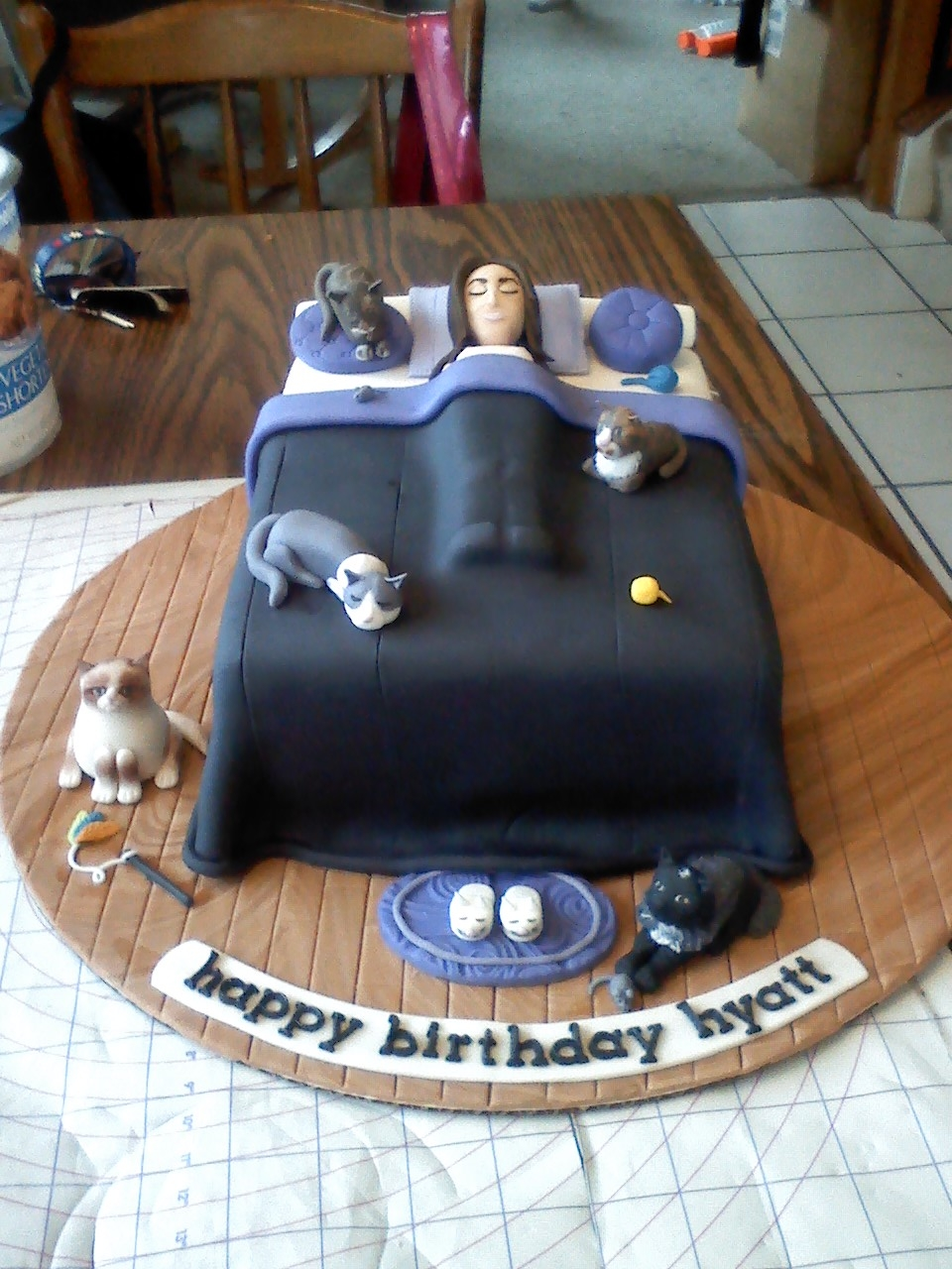 Cat Lady Birthday Cake Cakecentral