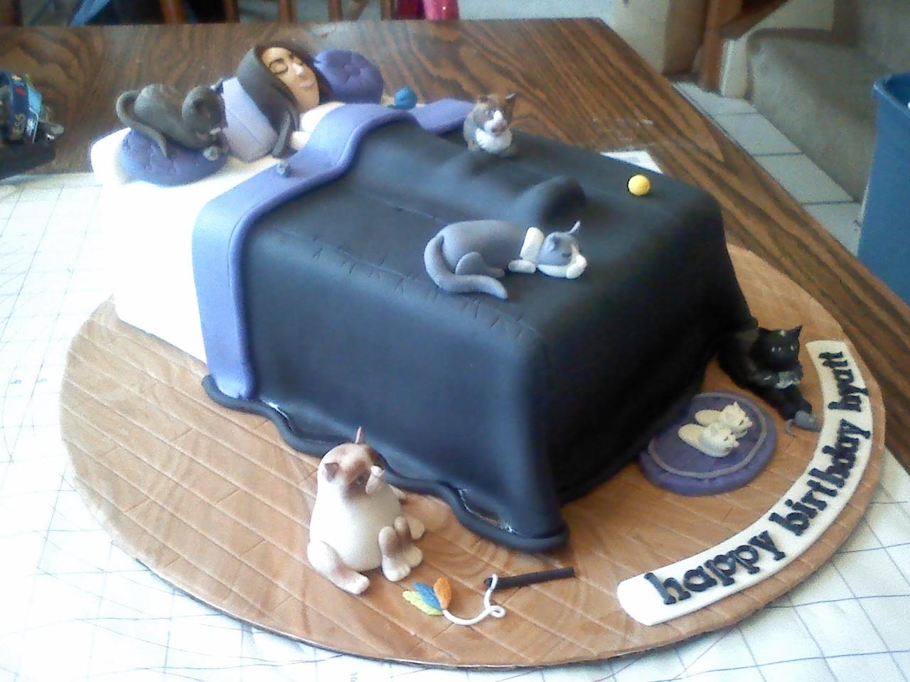 Cat Lady Birthday Cake Cakecentral Com
