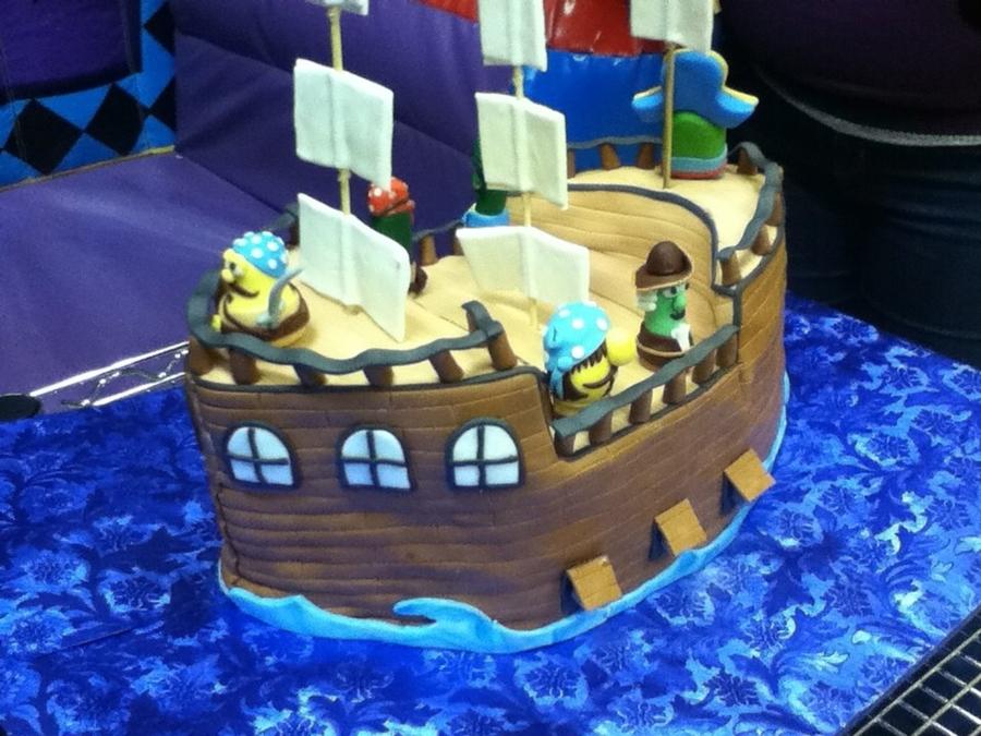 Veggietales Pirate Ship Cake Cakecentralcom