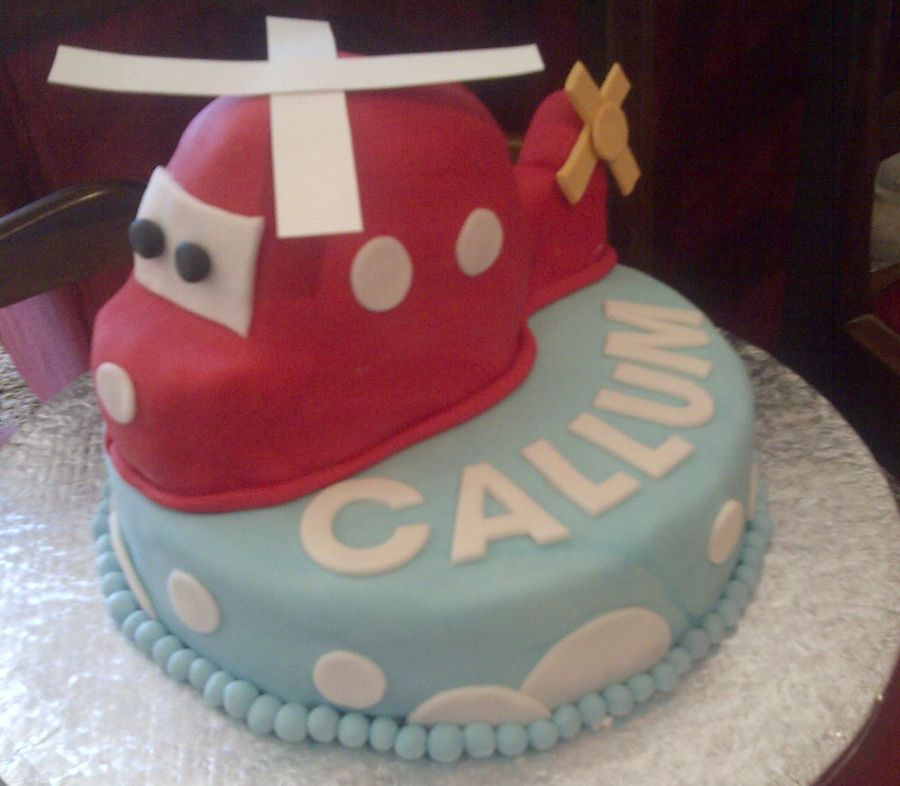 Helicopter on Cake Central