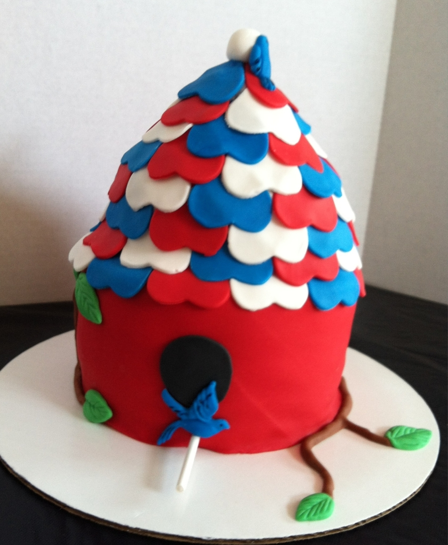 4Th Of July Birdhouse on Cake Central