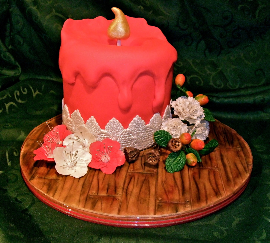 Candle Christmas Cake on Cake Central