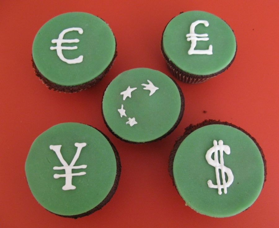 Banking Cupcakes  on Cake Central