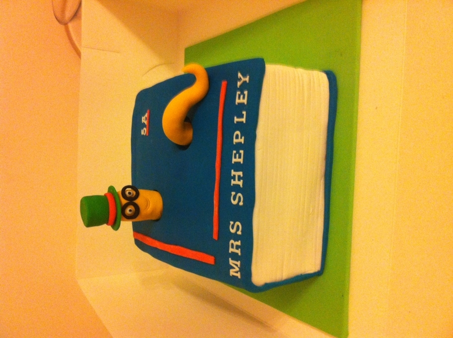 Book Worm Cake For Teacher on Cake Central