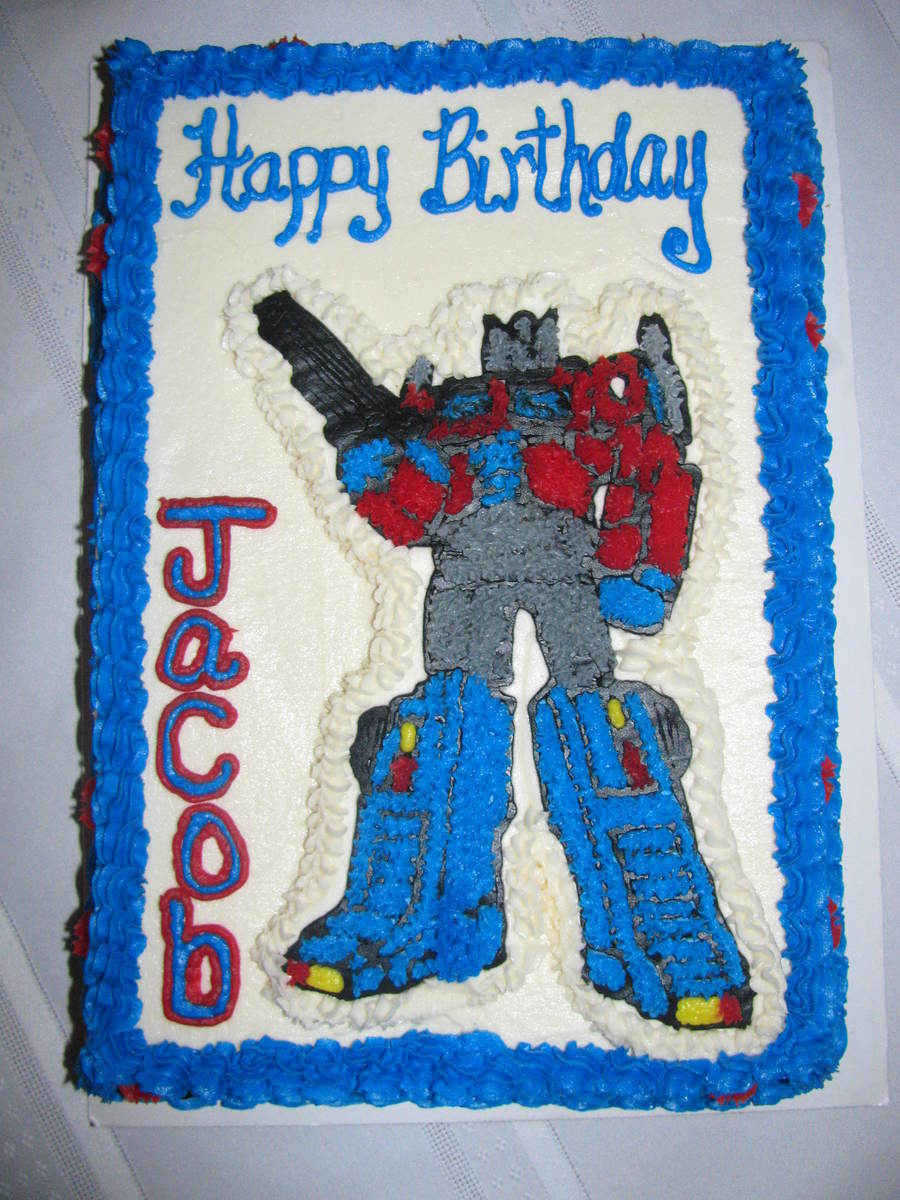 Sensational Transformers Optimus Prime Birthday Cake Cakecentral Com Personalised Birthday Cards Paralily Jamesorg