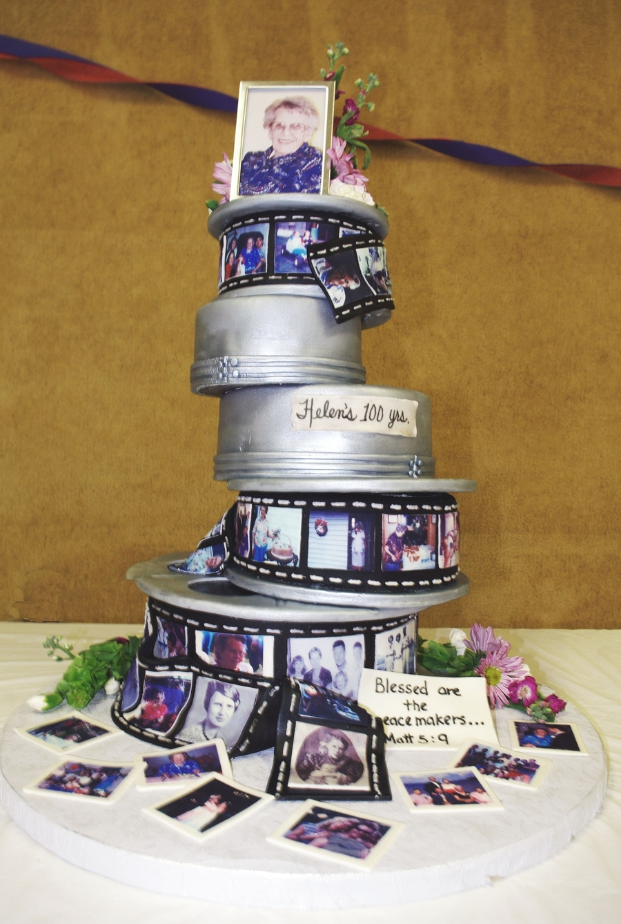 100Th Birthday Film Reel Cake on Cake Central