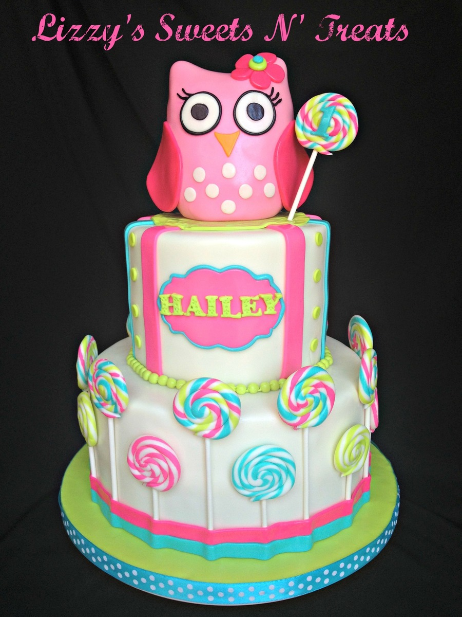 Pink Baby Owl Cake Topper Made From Rkt Cakecentral Com