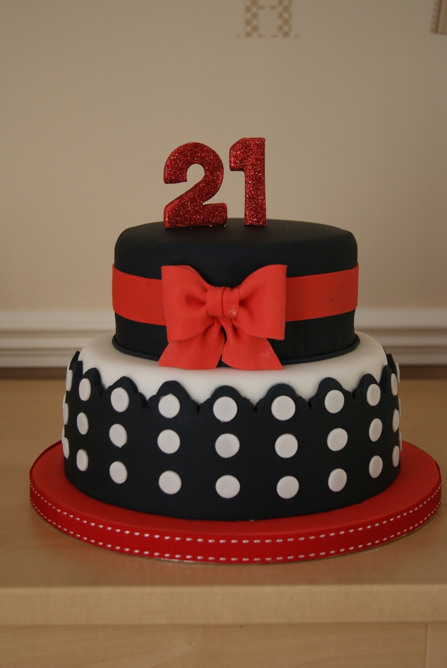 Red White And Black 21st Cake Cakecentral Com