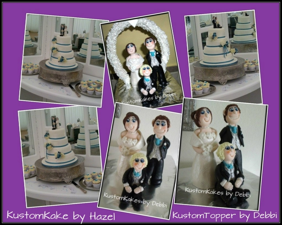 Wedding Cake And Topper on Cake Central