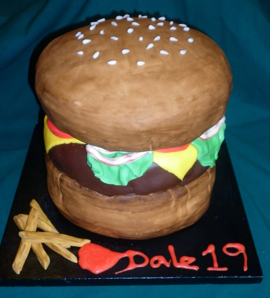 Cheese Burger Cake on Cake Central