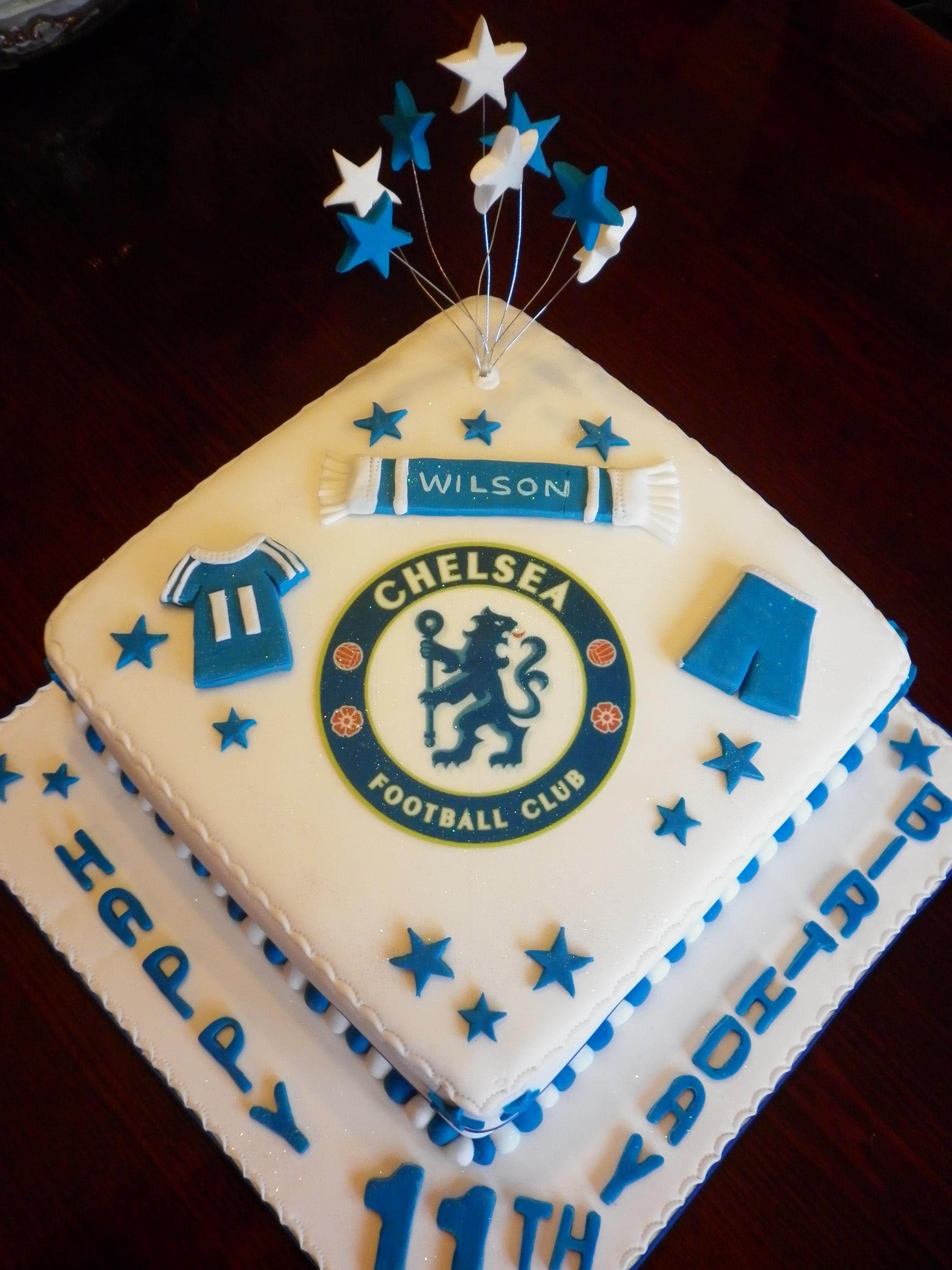 Astonishing Chelsea Football Cake Cakecentral Com Personalised Birthday Cards Veneteletsinfo