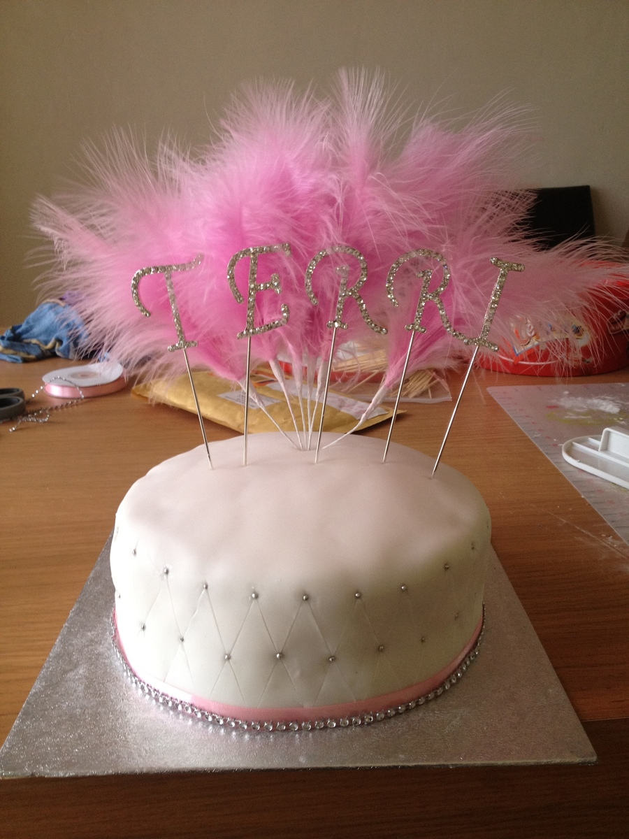 Amazing Pink Bling Birthday Cake Cakecentral Com Funny Birthday Cards Online Elaedamsfinfo