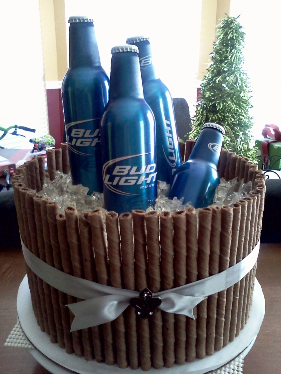 How To Make A Beer Bucket Cake