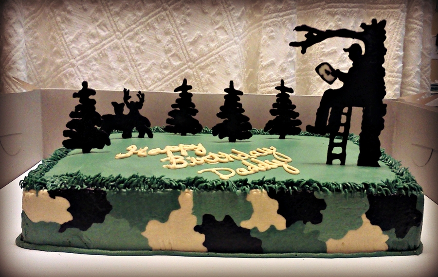 Hunting Birthday Cake on Cake Central