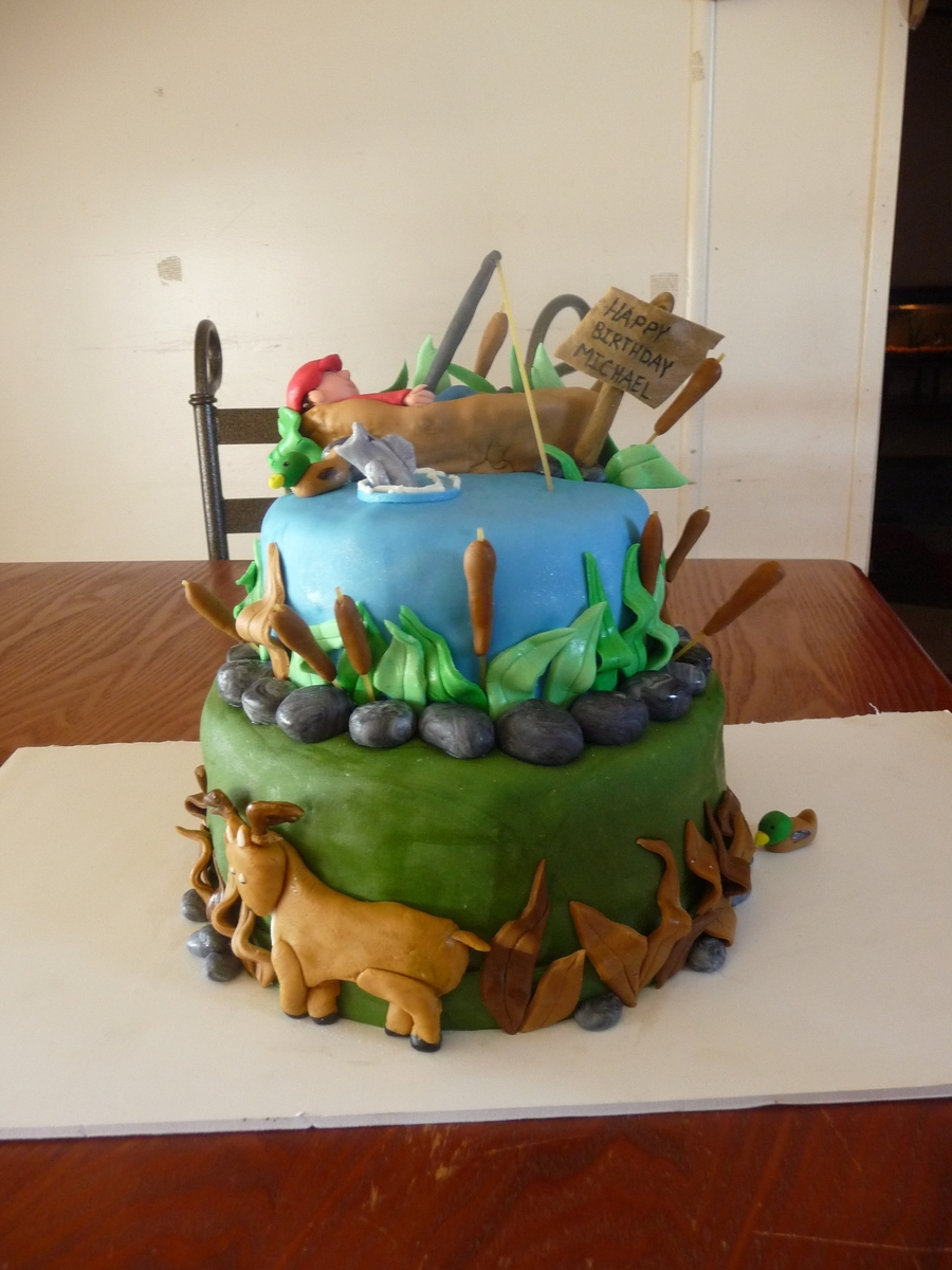 Hunting And Fishing Cake - CakeCentral.com