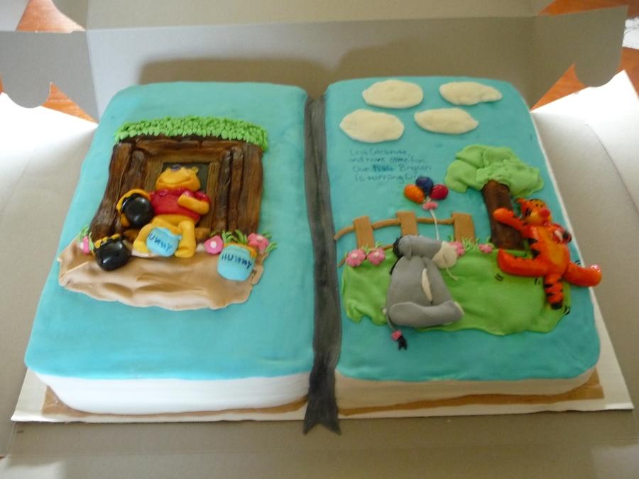 Winnie The Pooh Book Cake Cakecentralcom