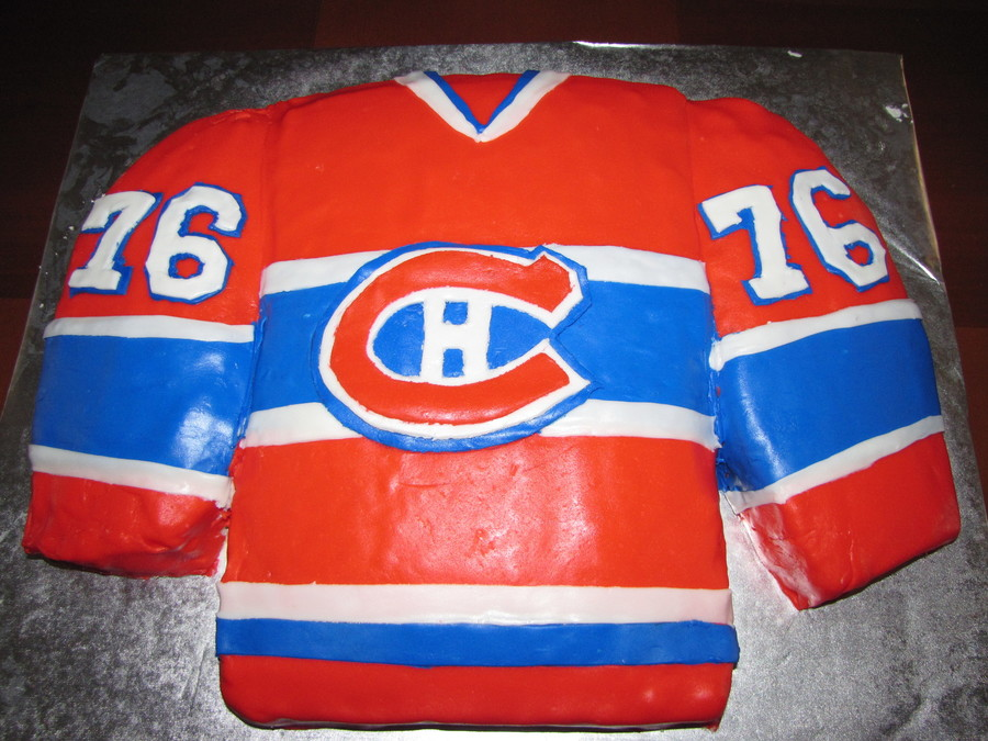 Montreal Canadien's Birthday Cake on Cake Central