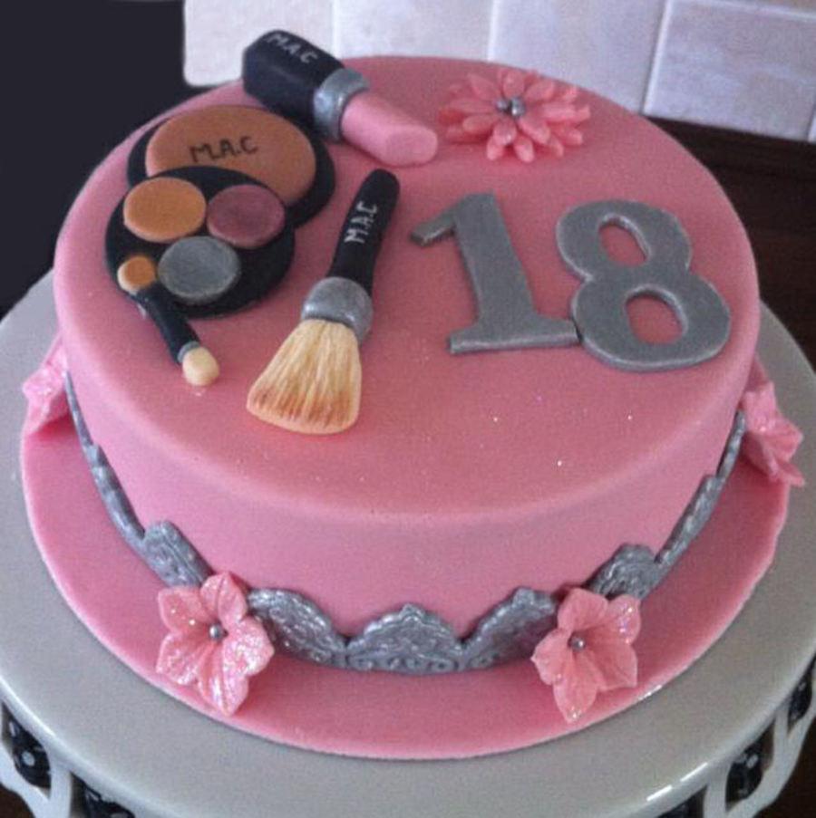 Simple Makeup Cake Design : Makeup Cake - CakeCentral.com