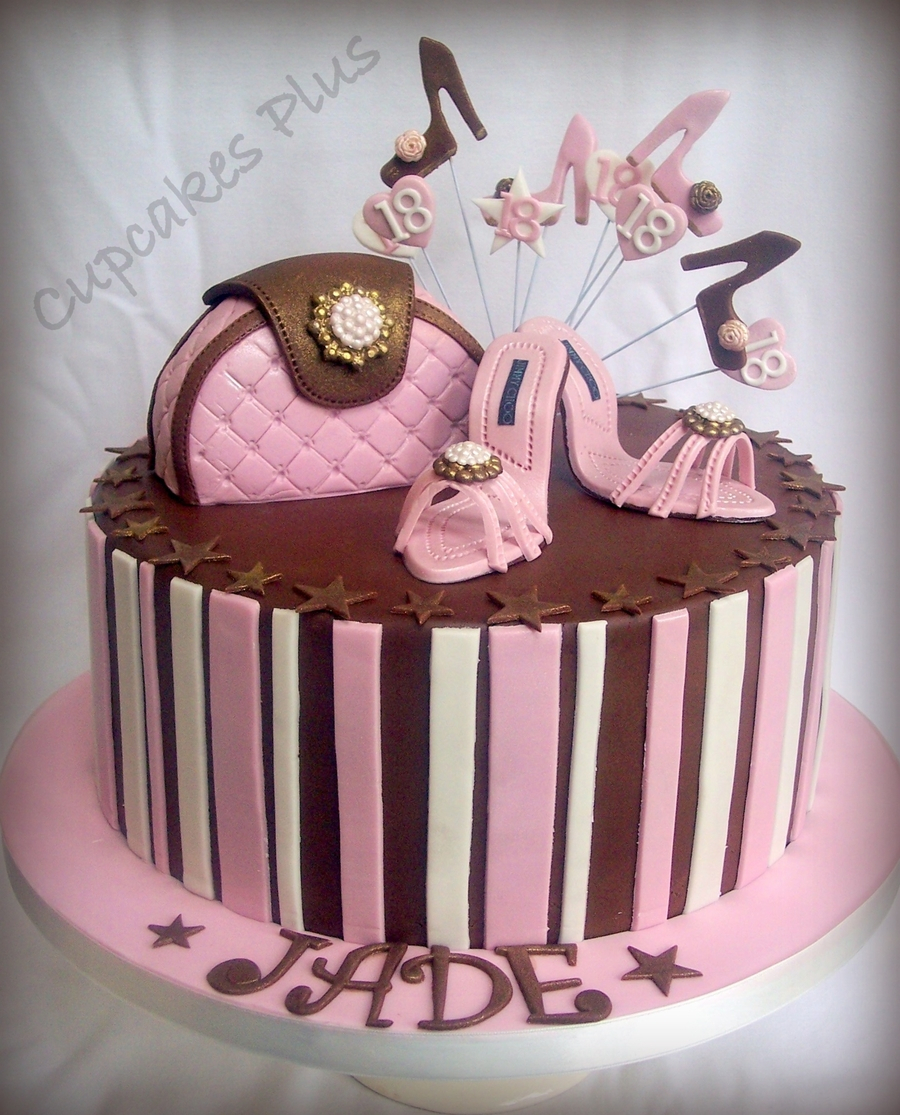 Handbag shoes birthday cakes