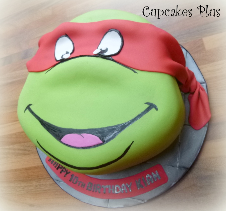 how to make a teenage mutant ninja turtle head cake