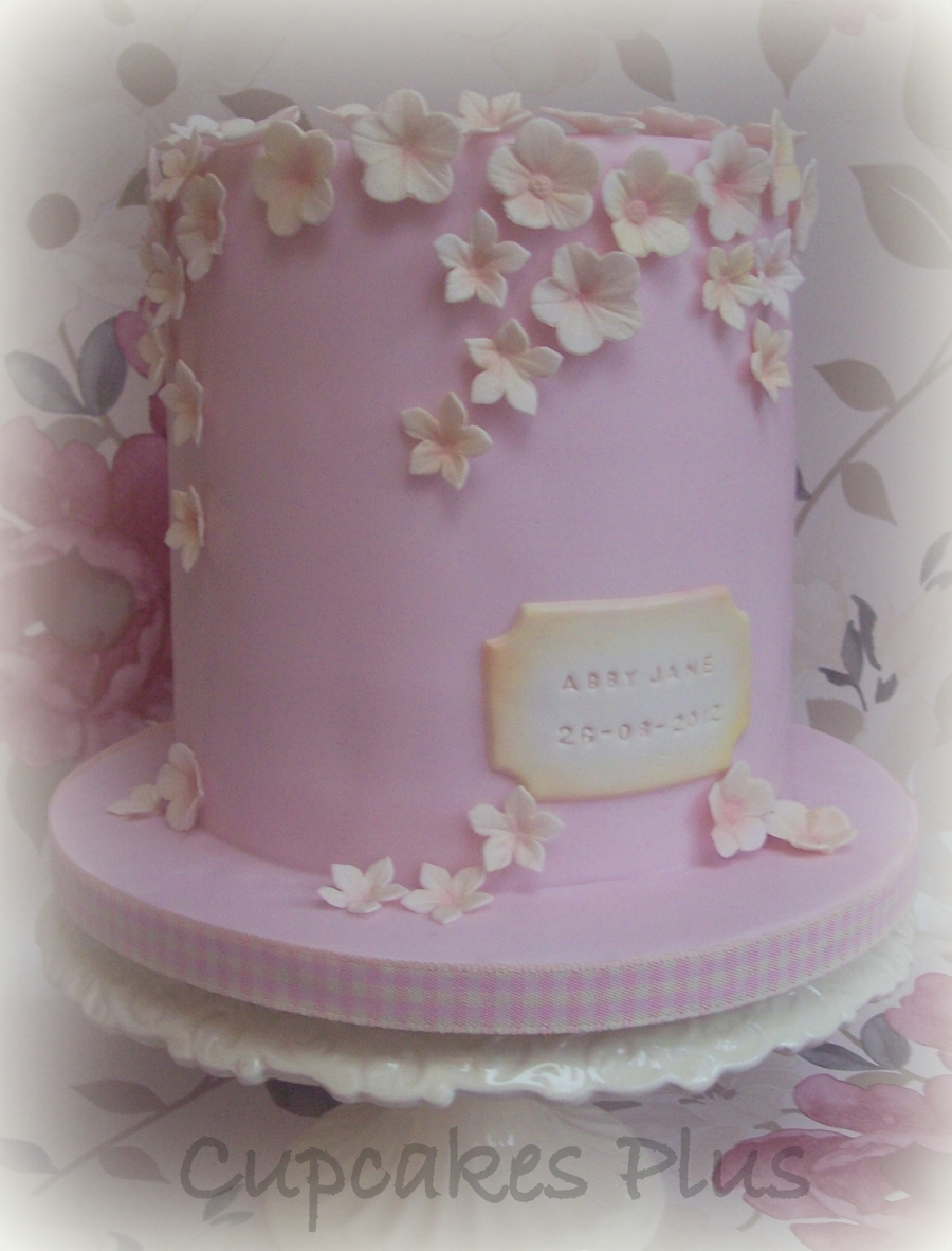 Double Height Christening Cake  on Cake Central
