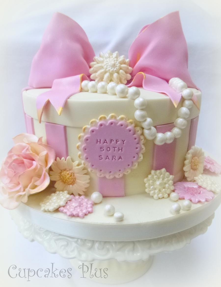 Pink And Girly 50Th Birthday Cake X CakeCentralcom