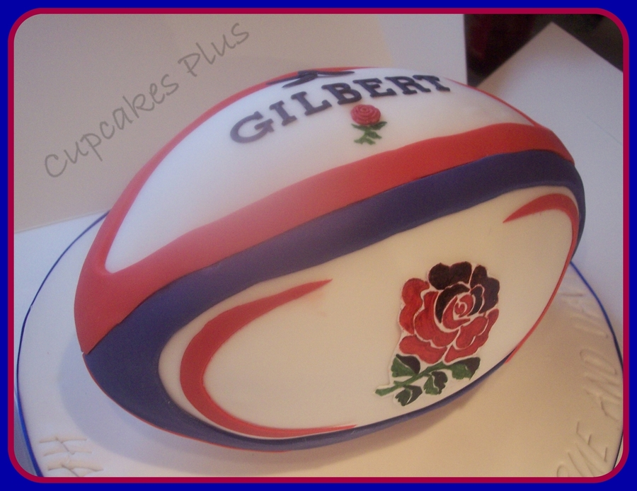 England Rugby Ball on Cake Central