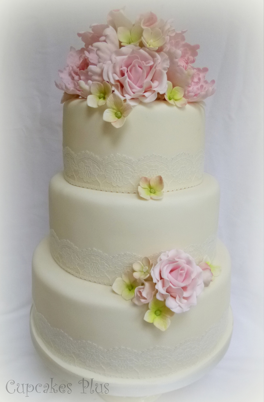 wedding cake with peony flowers peony and wedding cake cakecentral 26935