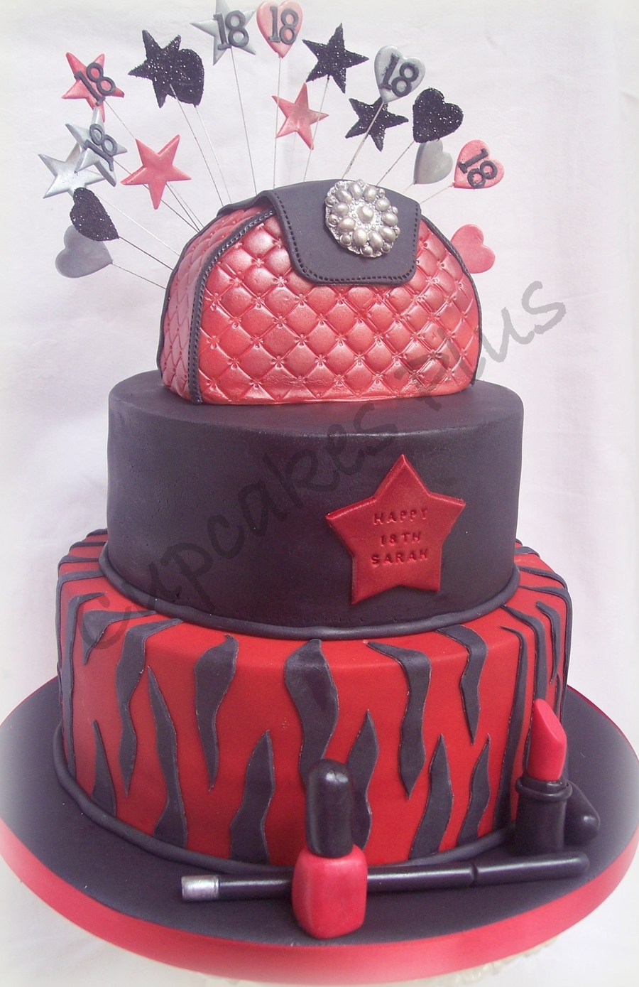 Red Black Birthday Cakes